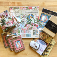 Graphic 45 - Club G45 - October Vol 10 2019- Joy To THe World - 3D Book Box and Card Trio (Club G45 Vol 10 2019)