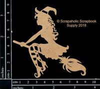 Scrapaholics - Laser Cut Chipboard - Cute Witch 3 (S49316)