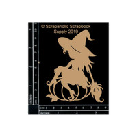Scrapaholics - Laser Cut Chipboard - Witch (S52552)