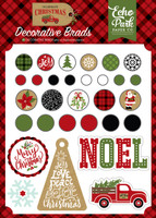 Echo Park - Decorative Brads & Chipboard - Celebrate Christmas (CH159020)