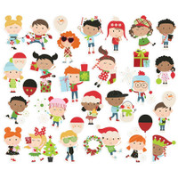 Simple Stories - Ephemera 63/Pkg- Say Cheese Christmas - Christmas Happy Kids (SCC11516)
