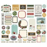 Simple Stories - Ephemera 57/Pkg - Winter Farmhouse - Journal Bits and Pieces (WTR11621)