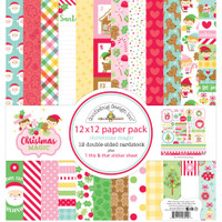 "Doodlebug - Double-Sided Paper Pack 12""X12"" 12/Pkg - Christmas Magic (CM6540)"