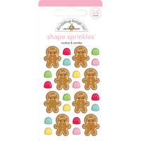 Doodlebug Sprinkles Adhesive Enamel Shapes - Christmas Magic - Cookies & Candies (DS6443)