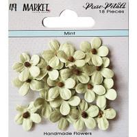 49 and Market - Flowers Pixie Petals 18/Pkg - Mint (49PP 89128)