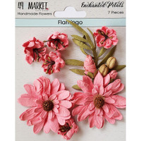 49 and Market - Flowers Enchanted Petals 7/Pkg - Flamingo (49EP 89081)
