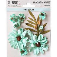 49 and Market - Flowers Enchanted Petals 7/Pkg - Sea Glass (49EP 89036)