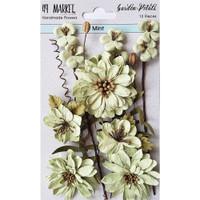 49 and Market - Flowers Garden Petals 12/Pkg - Mint (49GP 88961)