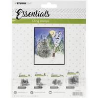Studio Light - Essentials Stamp - NR. 14 - Wintry Tree Scene (LINGSL14)