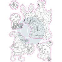 Craft Consortium - Clear Stamp - It's Snome Time - Mr. & Mrs. Snome (CSTMP015)