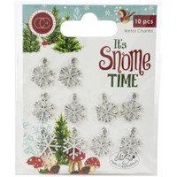 Craft Consortium - Snowflakes Metal Charms 10/Pkg - It's Snome Time (CCMCHR07)