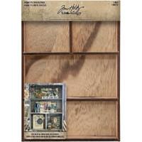 "Tim Holtz Idea-Ology Wooden Vignette Divided Box 7""X10"" (TH93794)"