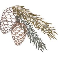 Sizzix - Tim Holtz - Framelits Dies 4/Pkg - Pine Branch (664228)