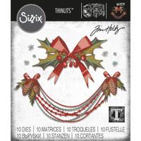 Sizzix - Tim Holtz - Framelits Dies 10/Pkg - Deck The Halls, Colorize (664229)