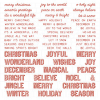 Tim Holtz Idea-Ology - Quote Chips 52/Pkg - Christmas 2019 Words & Phrases (TH93998)