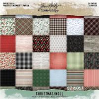 "Tim Holtz - Idea-Ology - Christmas 2019 Paper Stash Double-Sided 8""X8"" 24/Pkg (TH93988)"