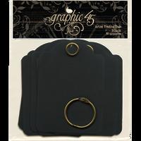 Graphic 45 - Staples - ATC Tags - Black (G4500980)