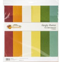 "Simple Stories - Basics Double-Sided Paper Pack 12""X12"" 6/Pkg - Autumn Splendor (UTS11214)"
