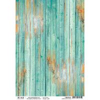 Ciao Bella - Rice Paper Sheet - Woodland Collection - Green Driftwood (CBRP023)