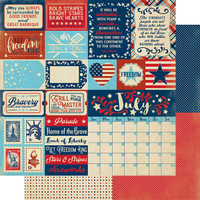 Authentique - Calendar Collection 12x12 3/Pkg - July (CAL-055)
