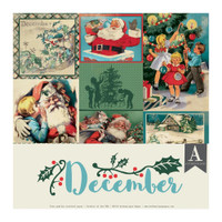 Authentique - Calendar Collection 12x12 3/Pkg - December (CAL-060)