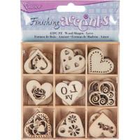 Darice - Flourish Wooden Pack - Hearts & Love - 45/pkg (WS2015 02)
