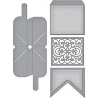 Spellbinders Shapeabilities Dies By Becca Feeken - 3D Interactive Pivot Banner (S41032)