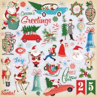 Carta Bella - 12x12 Sticker Sheet - A Very Merry Christmas (CBVMC72014)