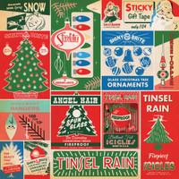 Carta Bella - A Very Merry Christmas 12x12 Cardstock - Vintage Packaging Journaling Cards (CBVMC72007)