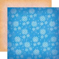 Carta Bella - A Very Merry Christmas 12x12 Cardstock - Winter Snowflakes (CBVMC72013)