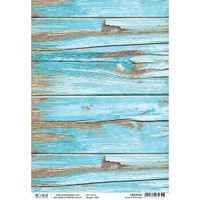 Ciao Bella - Rice Paper Sheet - Woodland Collection - Blue Driftwood (CBRP022)