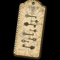 Graphic 45 - Antique Brass Ornate Metal Keys (G4500545)