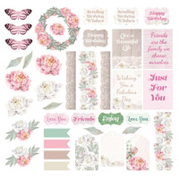 Couture Creations - Die Cuts Ephemera Set 39/pc - Peaceful Peonies (CO727364)