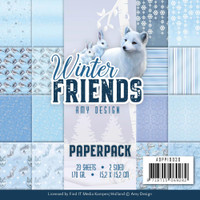 "Find It Trading - Amy Design - Double Sided Paper Pack 6""X6"" 23/Pkg - Winter Friends (APP10030)"