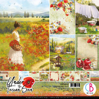 """Ciao Bella - 12""""X12"""" Double-Sided Paper Pack - Under the Tuscan Sun (CBPM032)"""