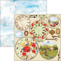 Ciao Bella - 12x12 Double-Sided Cardstock - Under the Tuscan Sun - Tuscan Clocks (CBSS102)