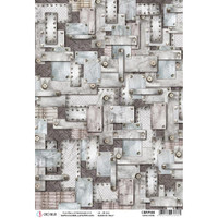 Ciao Bella - Decopague Rice Paper - Start Your Engines - Hard Steel (CBRP086)