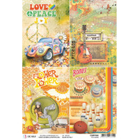 Ciao Bella - Decoupage Rice Paper Sheet - The Seventies - Cards (CBRP088)