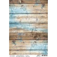Ciao Bella - Decoupage Rice Paper Sheet - Coastal Wood (CBRP111)