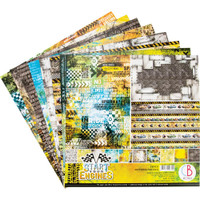 """Ciao Bella - 12""""X12"""" Double-Sided Patterns Pad 7/pkg - Start Your Engines (CBT031)"""