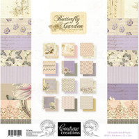 "Couture Creations - Double-Sided Paper Pad 12""X12"" 24/Pkg - Butterfly Garden (CO726526)"