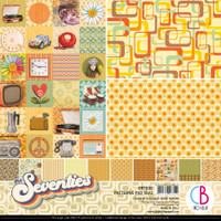 "Ciao Bella - 12""X12"" Double-Sided Patterns Pad 7/pkg - The Seventies (CBT030)"