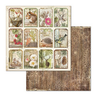 Stamperia - Double-Sided Cardstock 12x12 - Forest Tag (SBB660)
