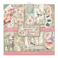 Stamperia - Double-Sided Cardstock Collection 12x12/10Pkg - House of Roses (SBBL66)