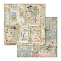 Stamperia - Double-Sided Cardstock 12x12 - Imagine - Faces & Writings (SBB668)