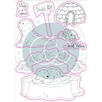 Craft Consortium - Clear Stamps - Polar Playtime - Make A Splash (CSTMP021)