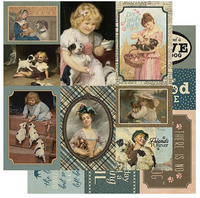 Authentique - Paper Collection Kit 12x12 - Purebred - #8 Dog Cut Aparts (PUR12 - 008)