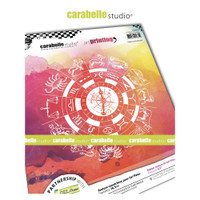 Carabelle Studio - Art Printing Square Rubber Texture Plate - Zodiac Signs (APRO0029)