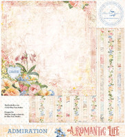 Blue Fern Studios - Double-Sided Paper 12x12- A Romantic Life - Admiration (ARL- AD)
