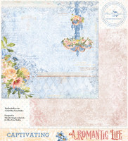 Blue Fern Studios - Double-Sided Paper 12x12- A Romantic Life - Captivating (ARL- CA)